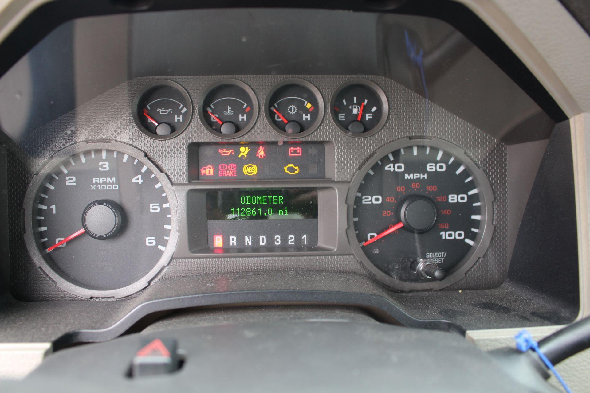 2008 FORD F350 XL SUPER DUTY STAKE BED TRUCK, 12' ROYAL BED BODY, 5.4L EFI V8 GASOLINE ENGINE, - Image 13 of 16