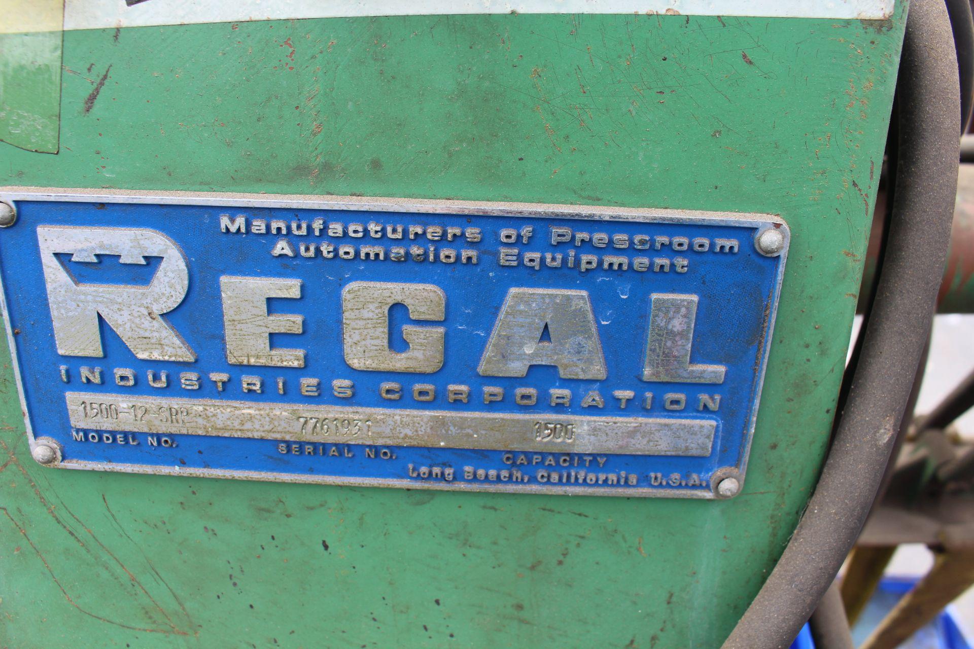 REGAL MODEL 1500-12-SRP COIL REEL, 1500 LB CAPACITY, S/N 7761931 - Image 2 of 2