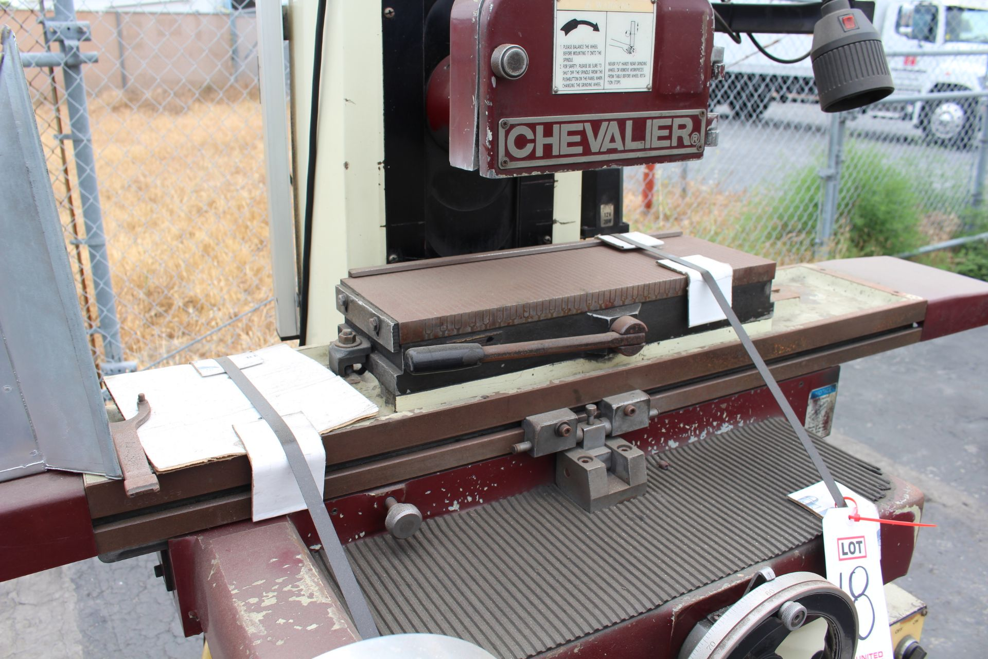 """CHEVALIER FSG-618M SURFACE GRINDER, 6"""" X 18"""" MAGNETIC CHUCK, ACU-RITE XY DRO, S/N A3837059 - Image 3 of 4"""