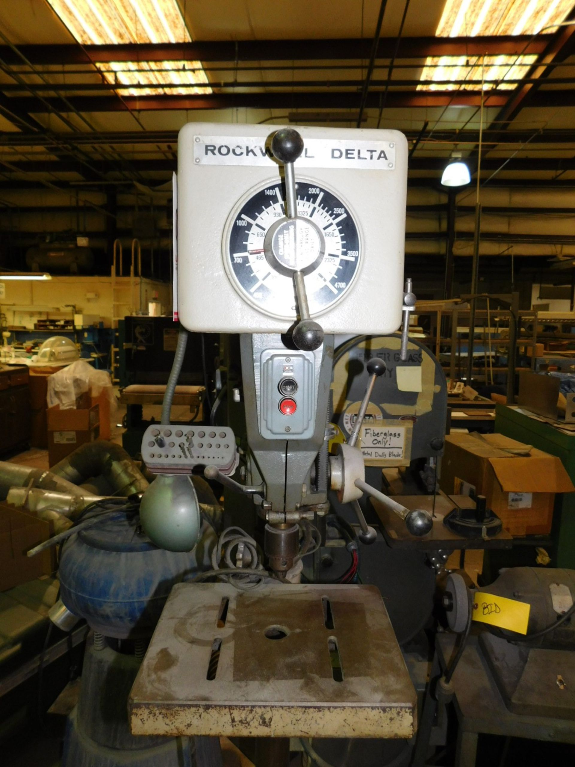 "Lot 32 - ROCKWELL DELTA 15"" DRILL PRESS, SERIES NO. 15-655, S/N 1487628, FLOOR STAND, VARIABLE SPEED"