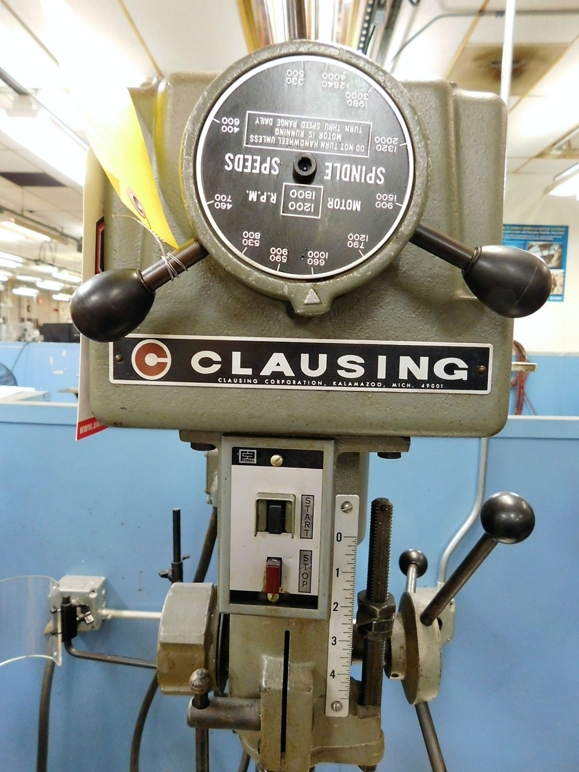 """Lot 29 - CLAUSING 15"""" VARIABLE SPEED DRILL PRESS, MODEL 1689, S/N 529400, FLOOR STAND"""