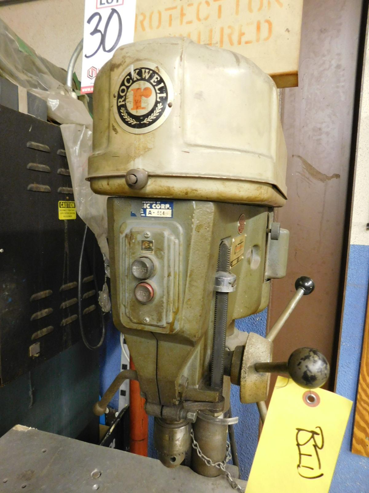 "Lot 30 - ROCKWELL 15"" DRILL PRESS, MODEL 15-655, S/N 1463799, FLOOR STAND, VARIABLE SPEED"
