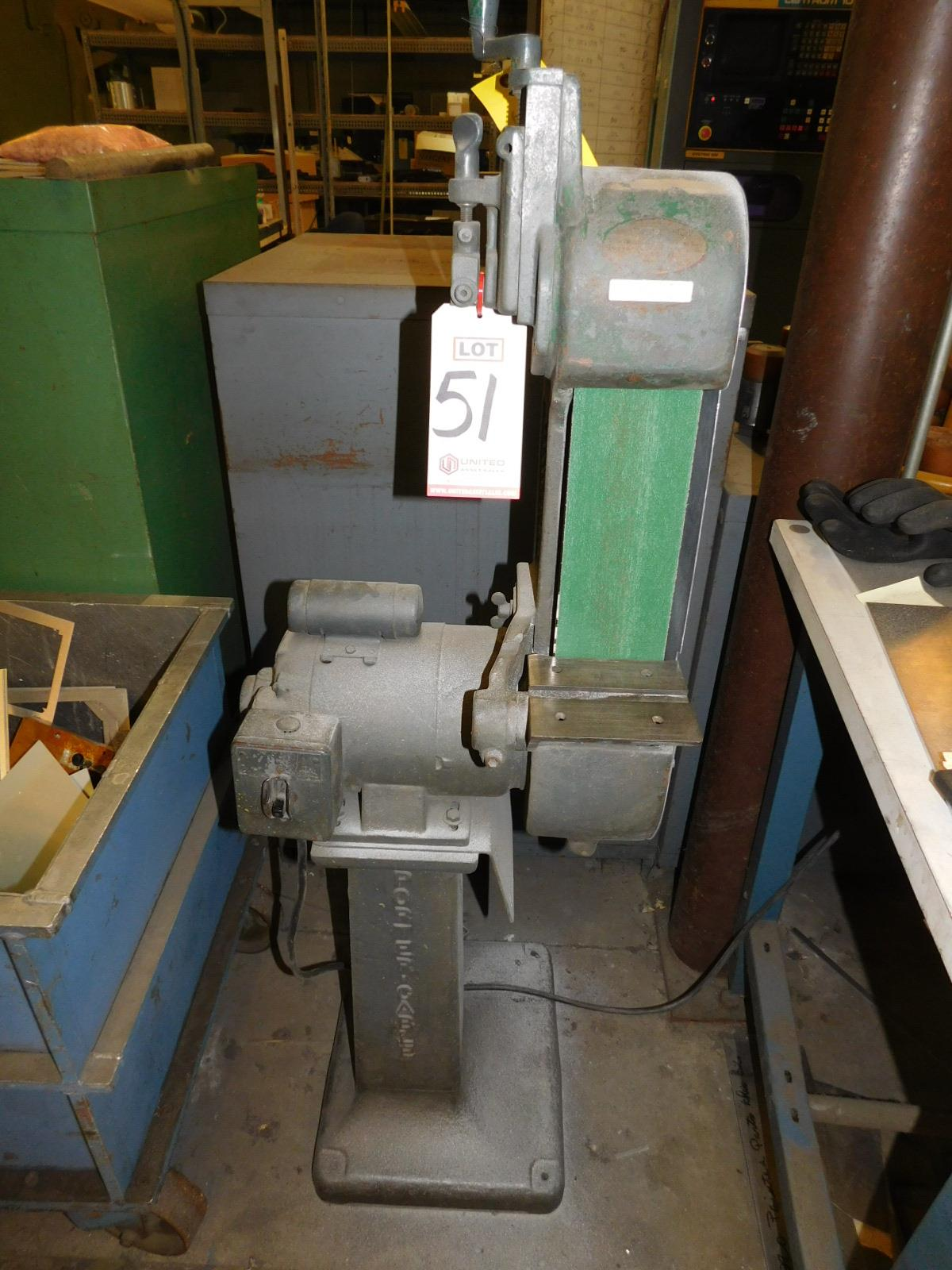 "Lot 51 - PORTER CABLE 4"" VERTICAL BELT SANDER, MODEL C4, FLOOR STAND, S/N 2318"