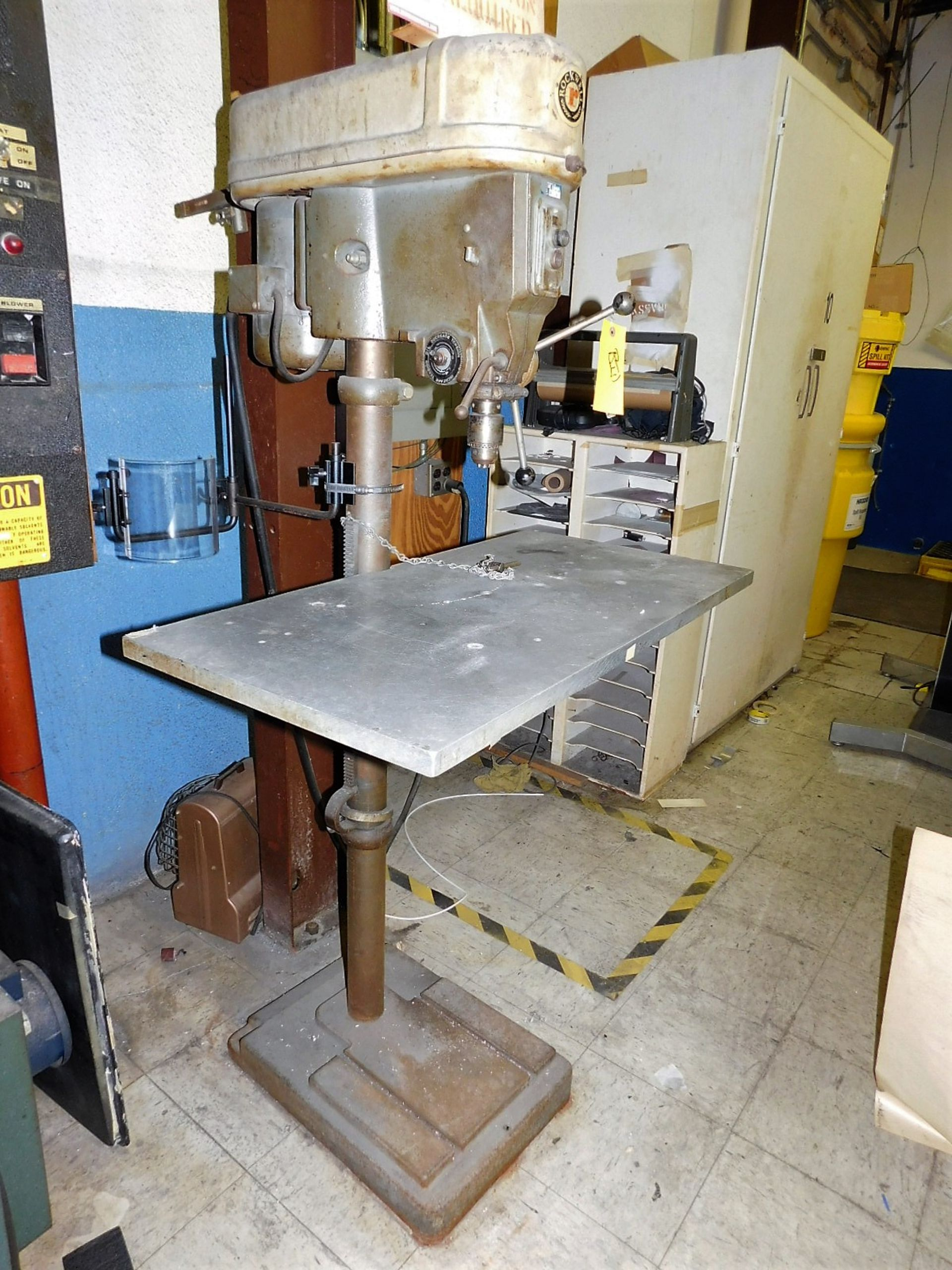"""Lot 30 - ROCKWELL 15"""" DRILL PRESS, MODEL 15-655, S/N 1463799, FLOOR STAND, VARIABLE SPEED"""