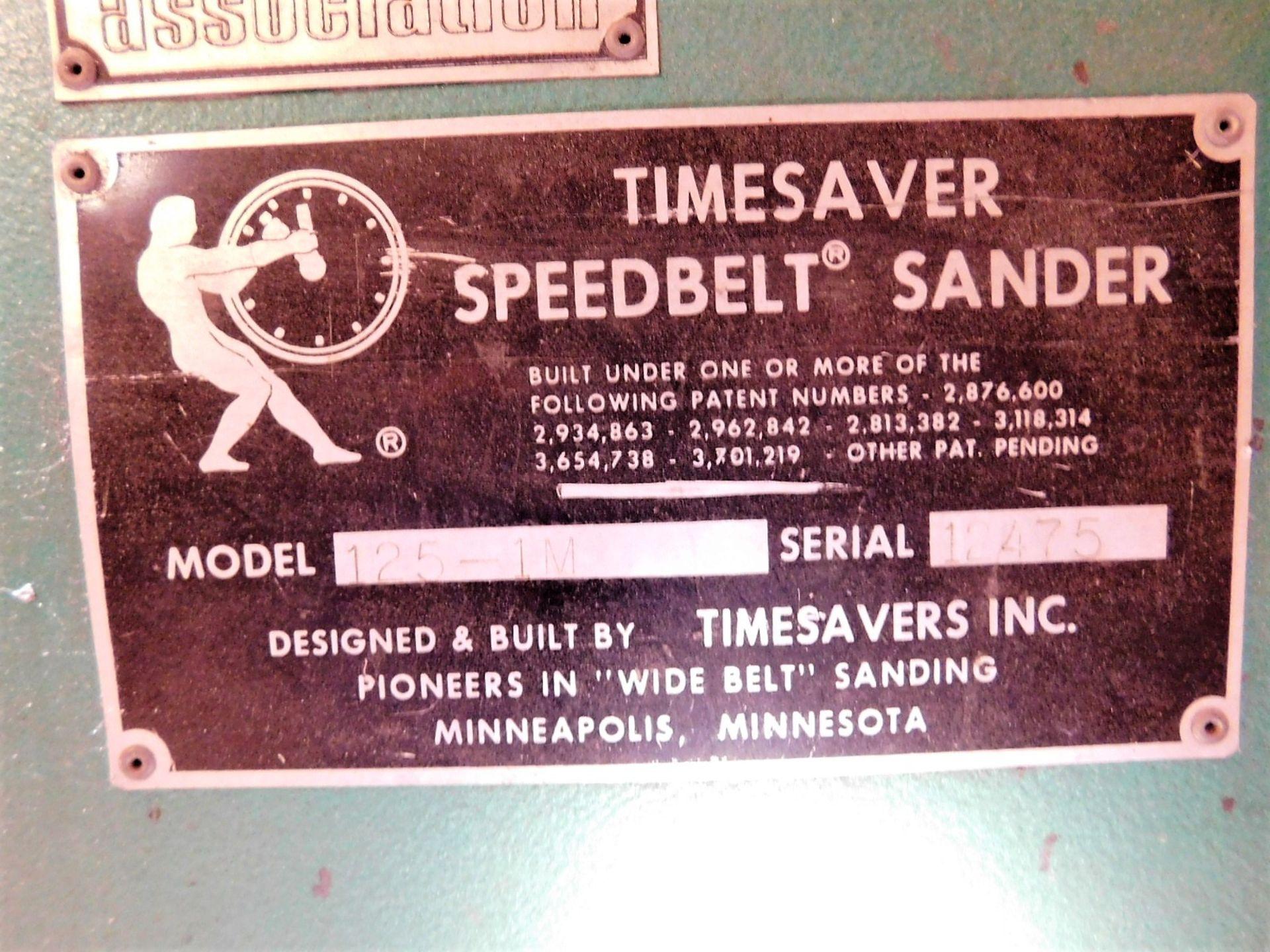Lot 40 - TIMESAVER SPEEDBELT SANDER, MODEL 125-1M, S/N 12475