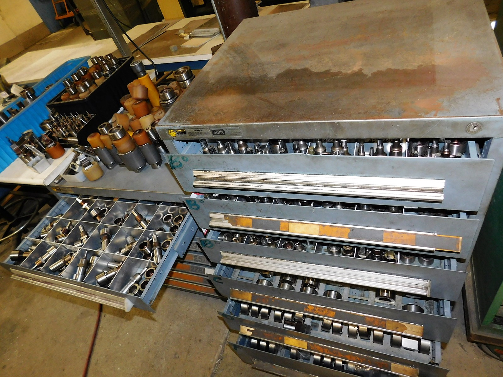 Lot 6 - LOT - (2) CABINETS W/ CONTENTS INSIDE & ON TOP OF TOOLING FOR THE WIEDEMANN CENTRUM C-1000