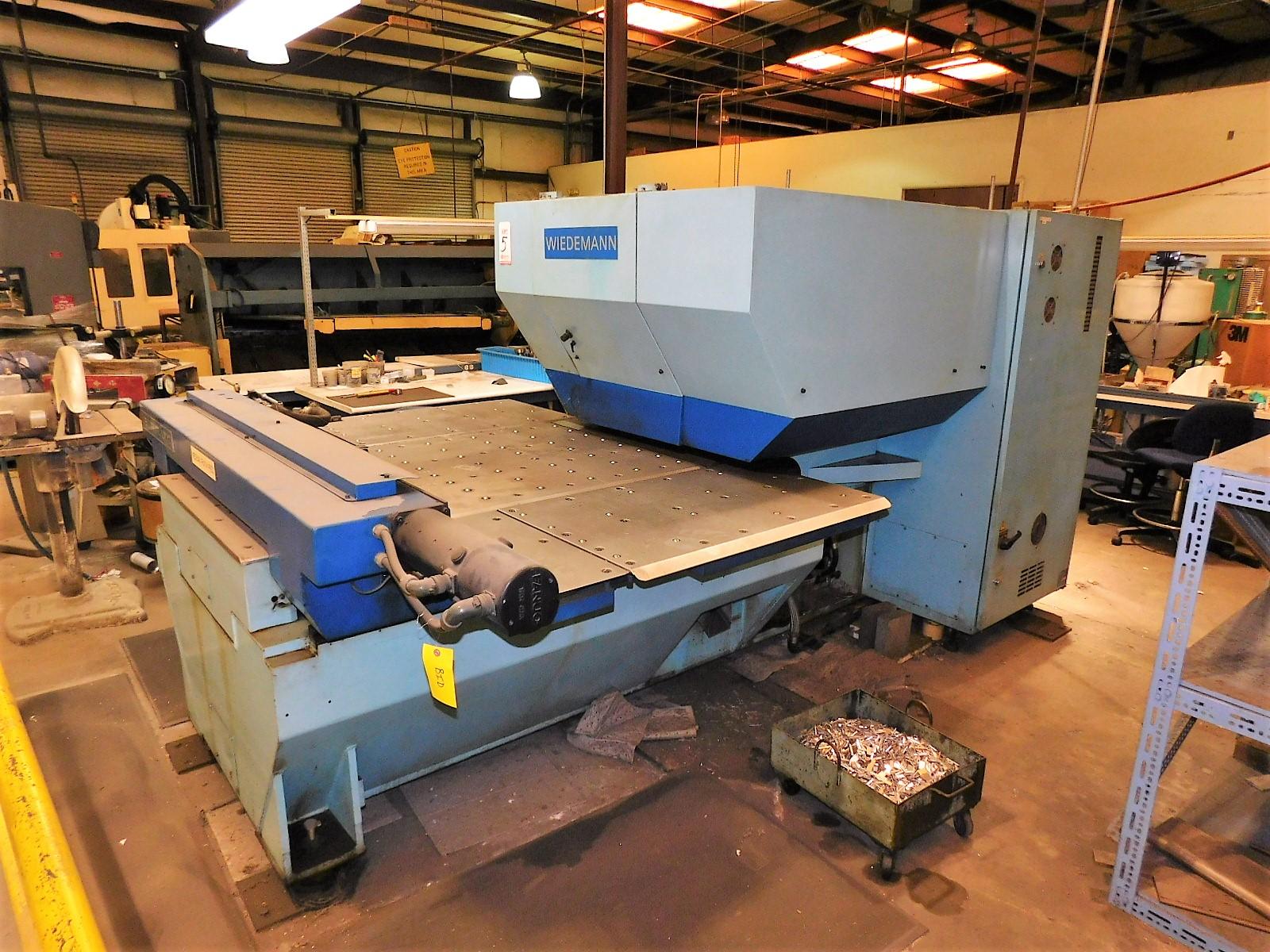 """Lot 5 - WIEDEMANN CENTRUM C-1000 PUNCH PRESS, FANUC 6M CNC CONTROL, 16-TON CAPACITY, 40"""" X 40"""" TABLE, 20-"""