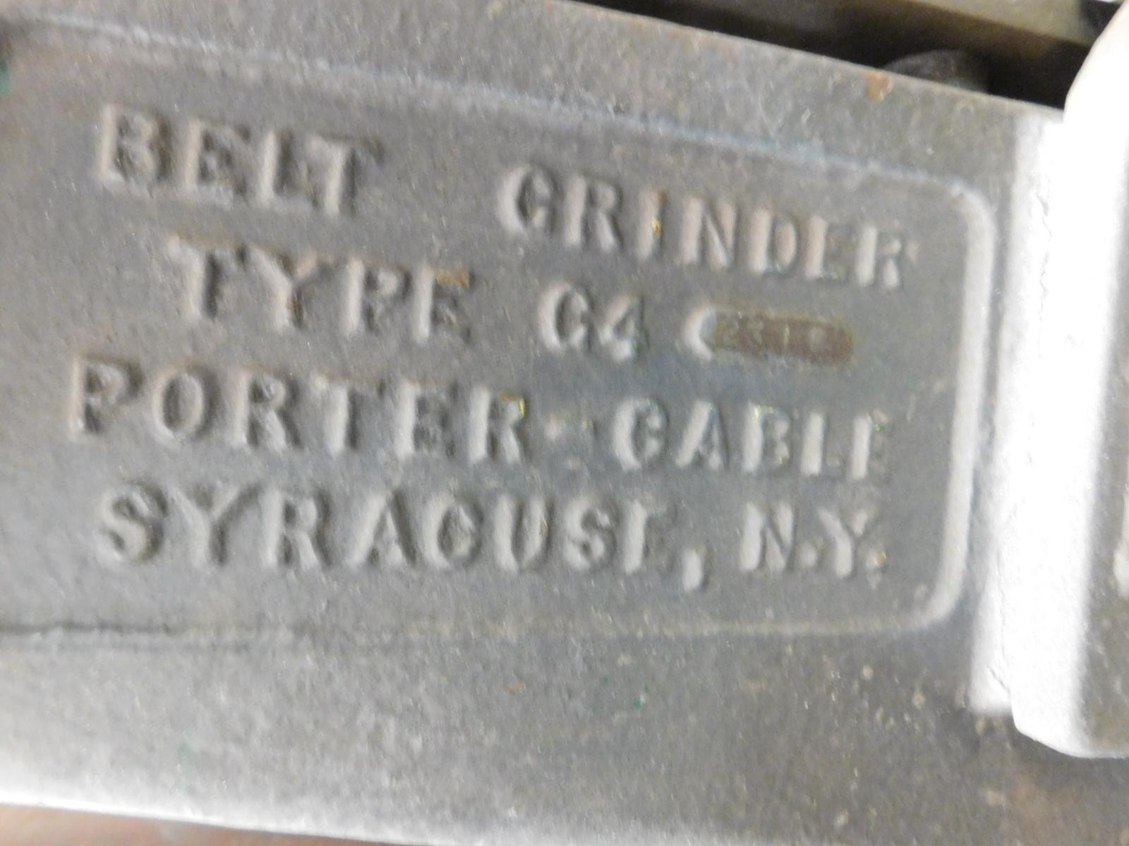 """Lot 51 - PORTER CABLE 4"""" VERTICAL BELT SANDER, MODEL C4, FLOOR STAND, S/N 2318"""