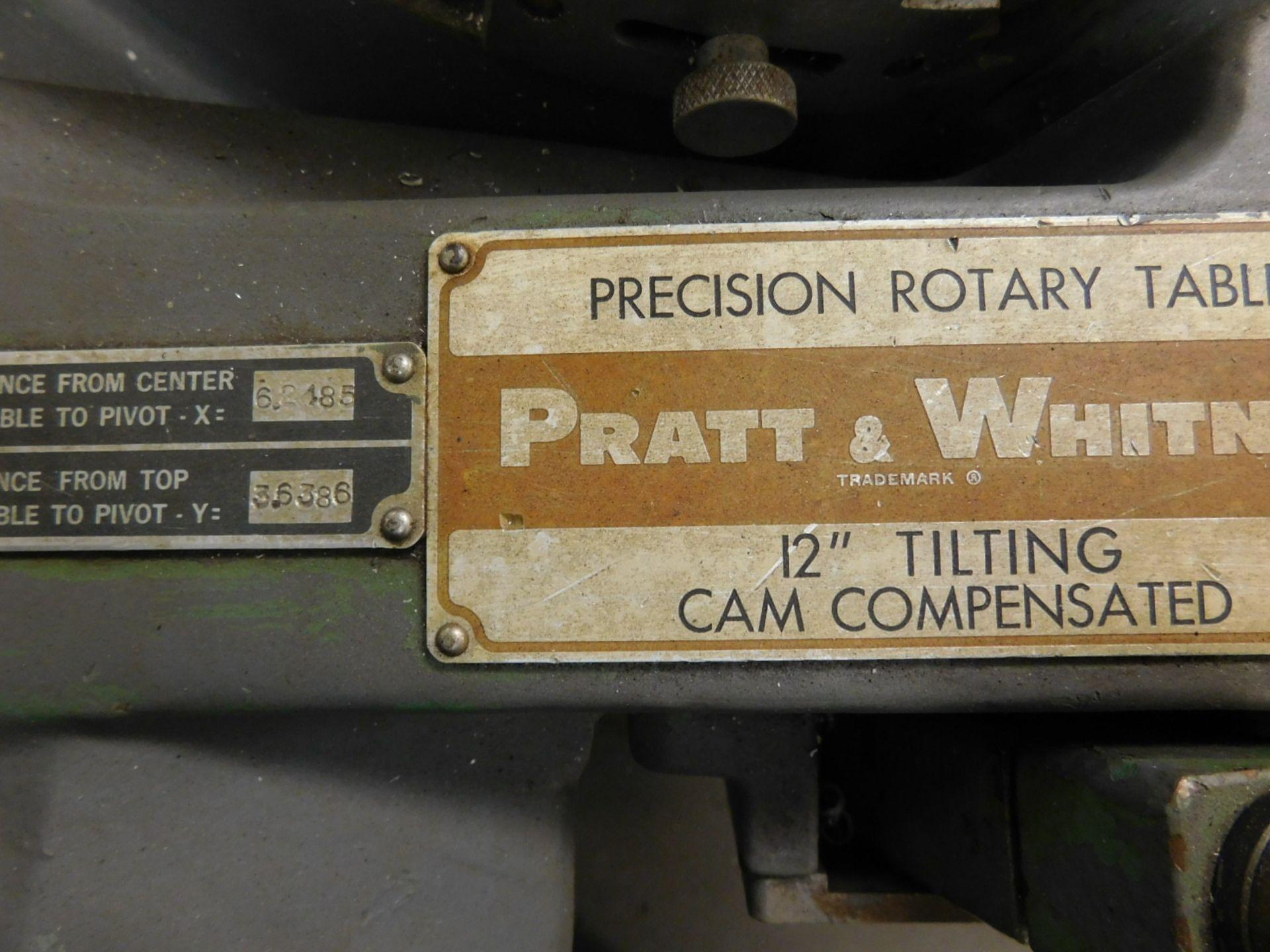 """Lot 36 - PRATT & WHITNEY 12"""" TILTING ROTARY TABLE, S/N 29100"""