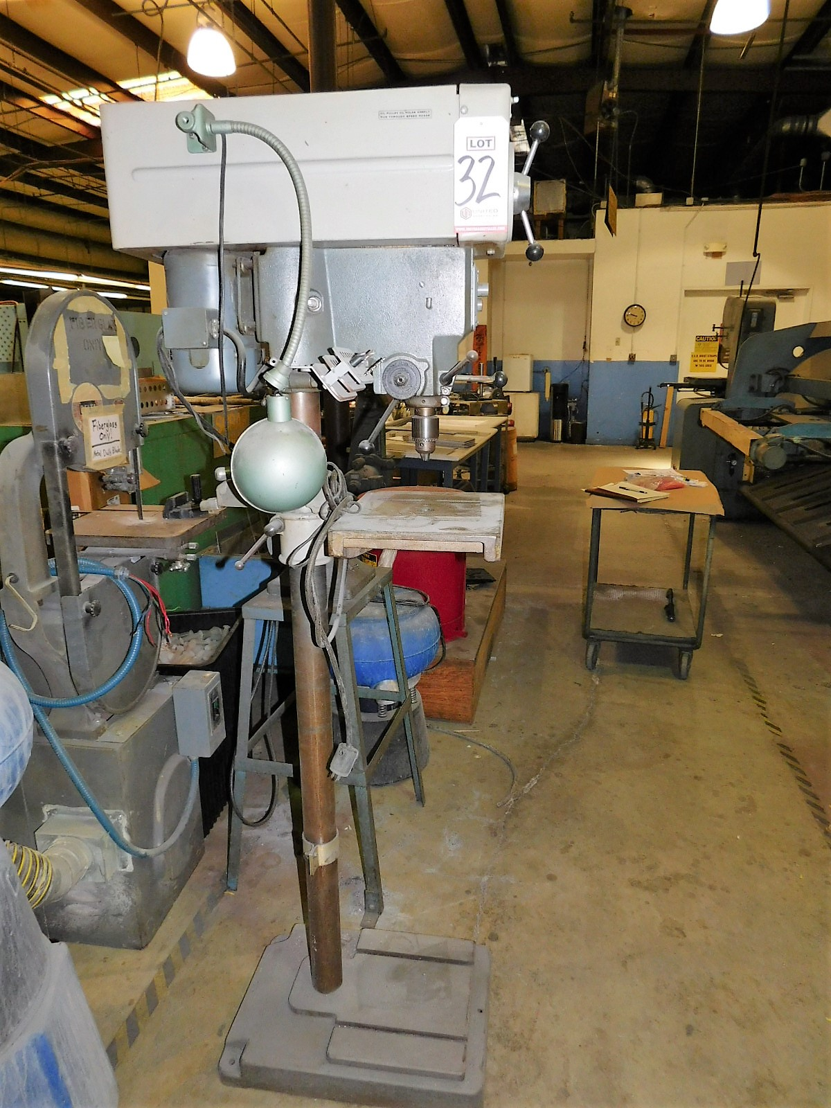 """Lot 32 - ROCKWELL DELTA 15"""" DRILL PRESS, SERIES NO. 15-655, S/N 1487628, FLOOR STAND, VARIABLE SPEED"""