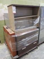 Lot 10 - LOT - PALLET W/ (3) FILE CABINETS, (1) SHELF