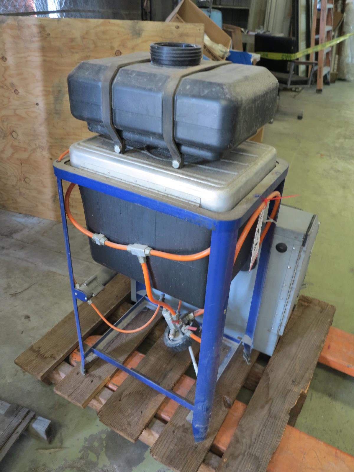 Lot 2 - LOT - (1) PAINT GUN WASHER AND (1) MEDIA BLAST CABINET