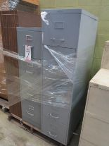 Lot 7 - LOT - PALLET W/ (3) FILE CABINETS, (1) SHELF