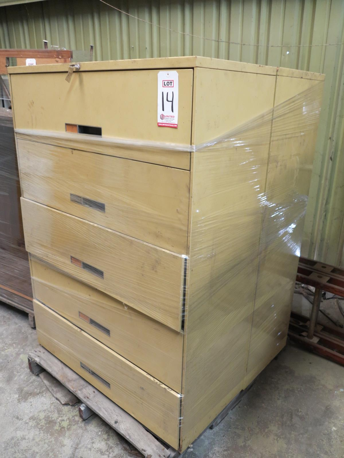 Lot 14 - LOT - PALLET W/ (2) FILE CABINETS