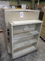 Lot 12 - LOT - PALLET W/ (2) FILE CABINETS, (1) SHELF
