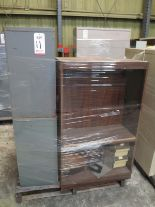 Lot 11 - LOT - PALLET W/ (2) FILE CABINETS, (1) SHELF AND (1) WOOD BOX