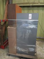 Lot 18 - LOT - PALLET W/ (2) FILE CABINETS, (2) SHELVES
