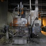 Lot 1 - LECTROMELT 7' DIA. ROCKER TYPE ARC FURNACE, S/N 754 W/ CABLES (NOT WATER COOLED), SLAG DOOR, ROOF