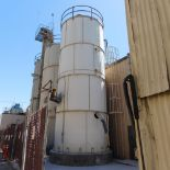 Lot 2001 - PEABODY SAND SILO BOLTED CONSTRUCTION W/ DISCHARGE BELT CONVEYOR, 116 TON CAPACITY