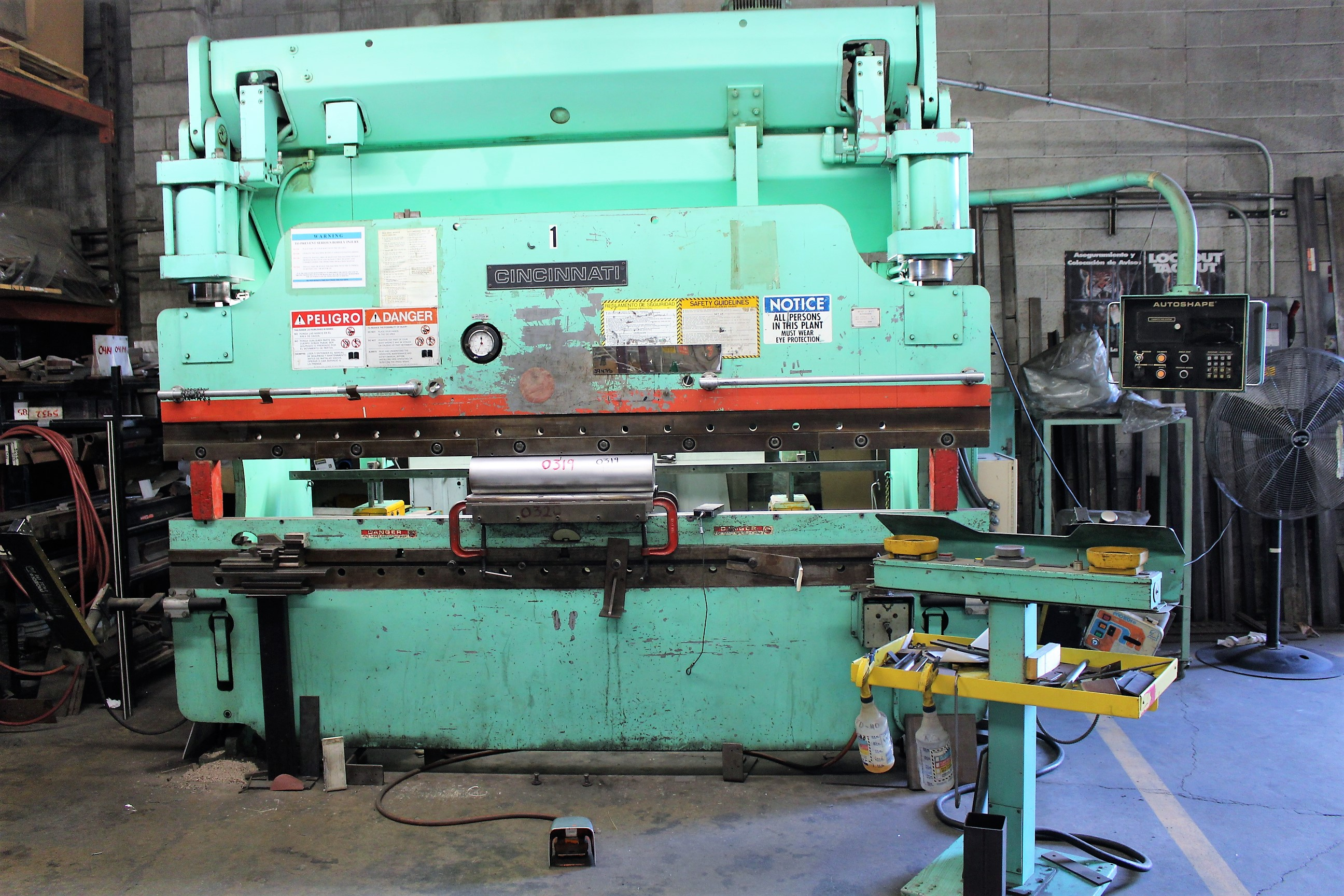 PRESS BRAKES, SHEARS, PUNCH PRESSES,  TUBE BENDERS, IRON WORKERS, SAWS, TIG/MIG WELDERS, POLISHERS, MACHINE SHOP, STAKE BED TRUCKS, FORKLIFTS