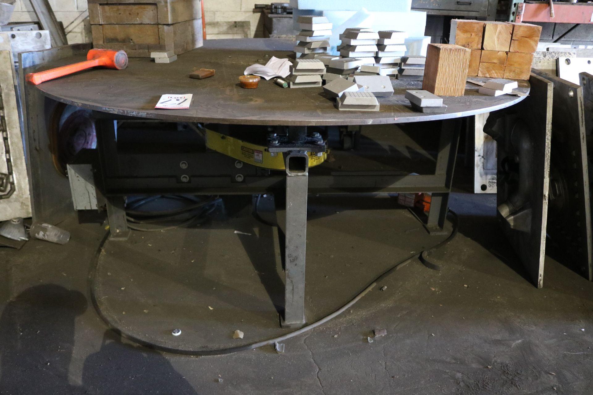 Lot 27 - 2005 PALMER 6' DIAMETER 3/4 HP ROTARY TABLE, FOOT PEDAL OPERATION, S/N CF191