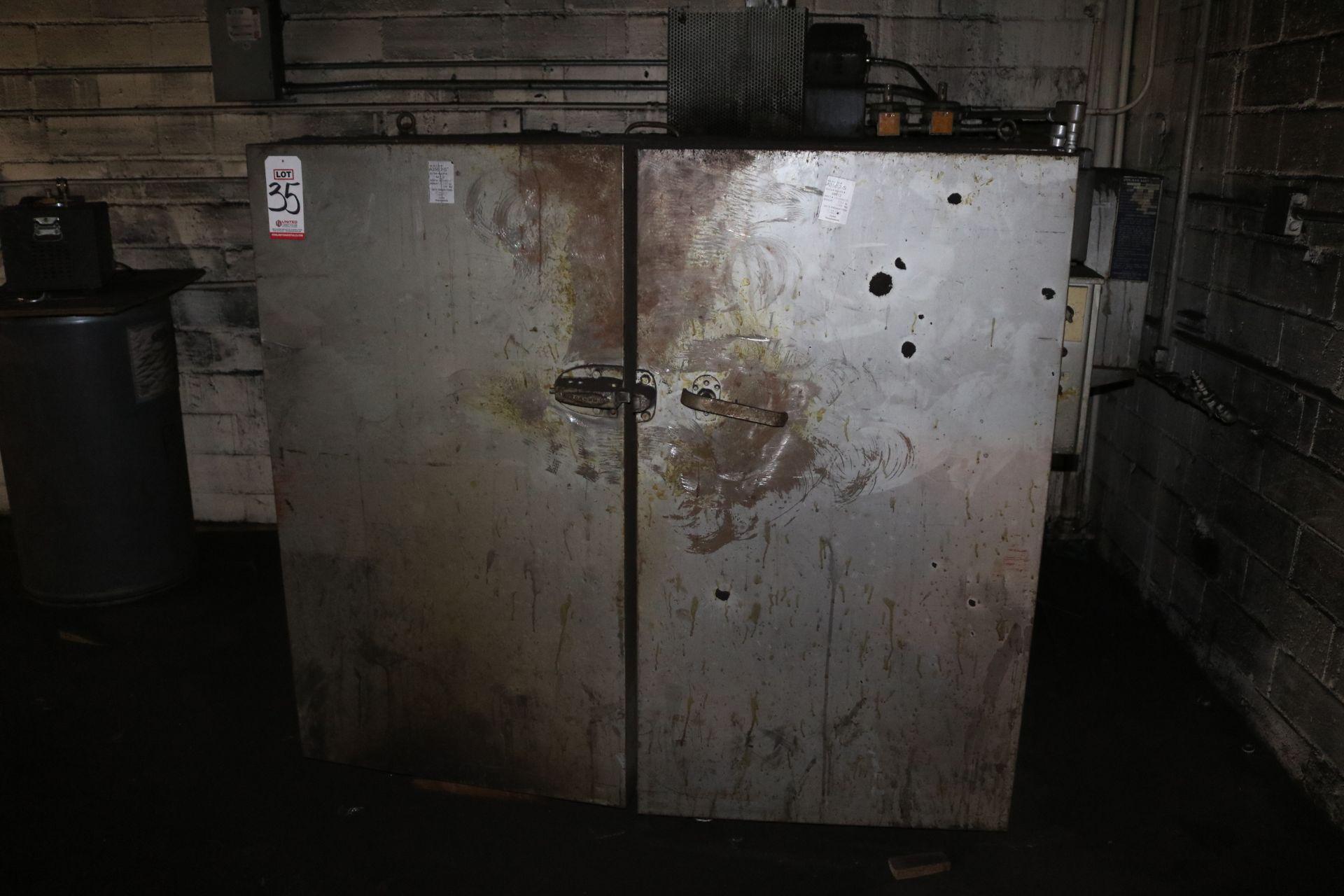 Lot 35 - STEELMAN 2-DOOR BAKE OVEN, 4' X 4' X 4'