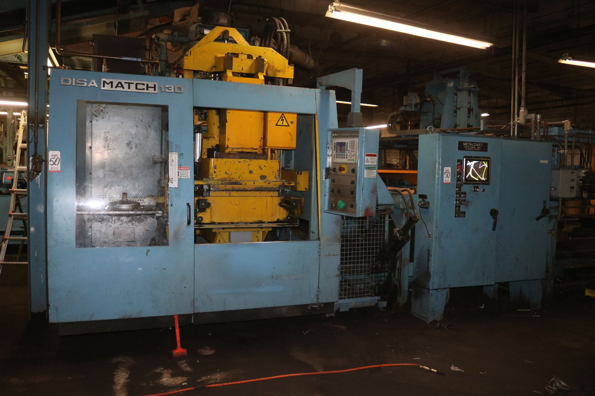 "Lot 50 - 2001 DISAMATIC MODEL DISAMATCH 130 AUTOMATIC MOLDING MACHINE, FEED 24"" X 20"" FLASKS, BELT CONVEYOR"