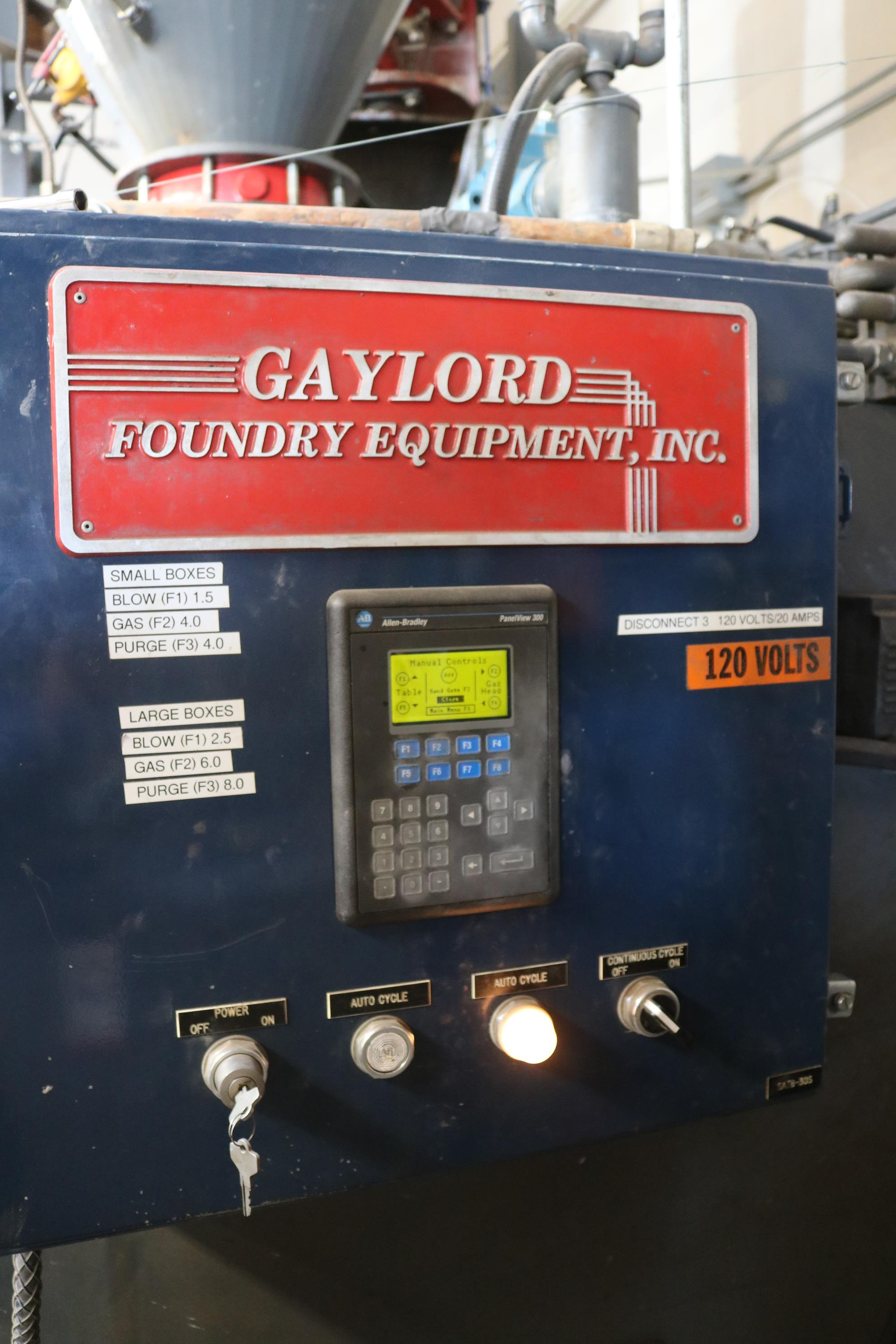 Lot 54 - 2001 GAYLORD CORE MACHINE SYSTEM, TINKER OMEGA TOM 125 CONTINUOUS MIXER, PUMPS AND FEED BUCKET
