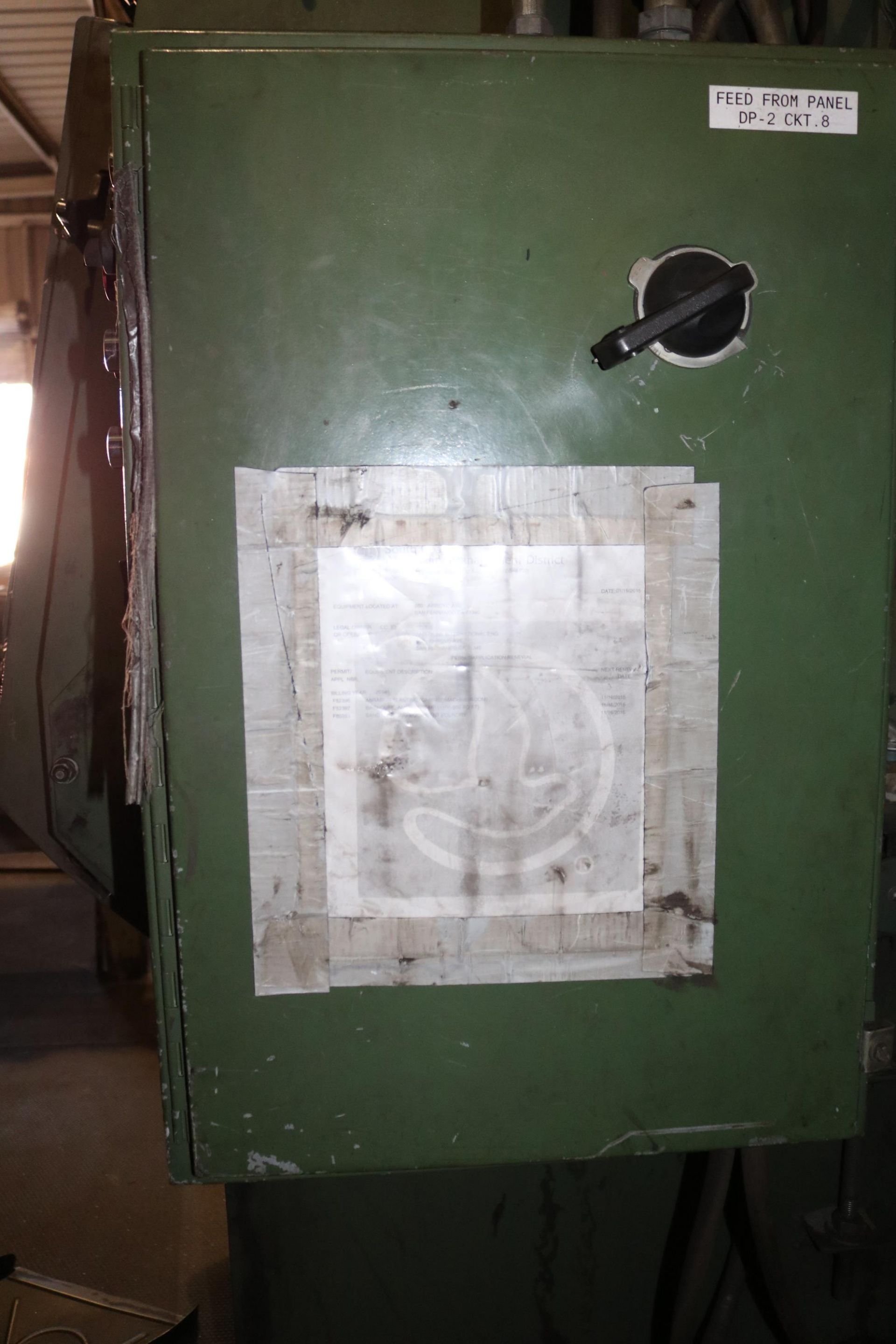 Lot 34 - GOFF 6BB RUBBER BELT TUMBLAST CLEANING MACHINE, DIRECT DRIVE SHOT WHEEL AND DUST COLLECTOR