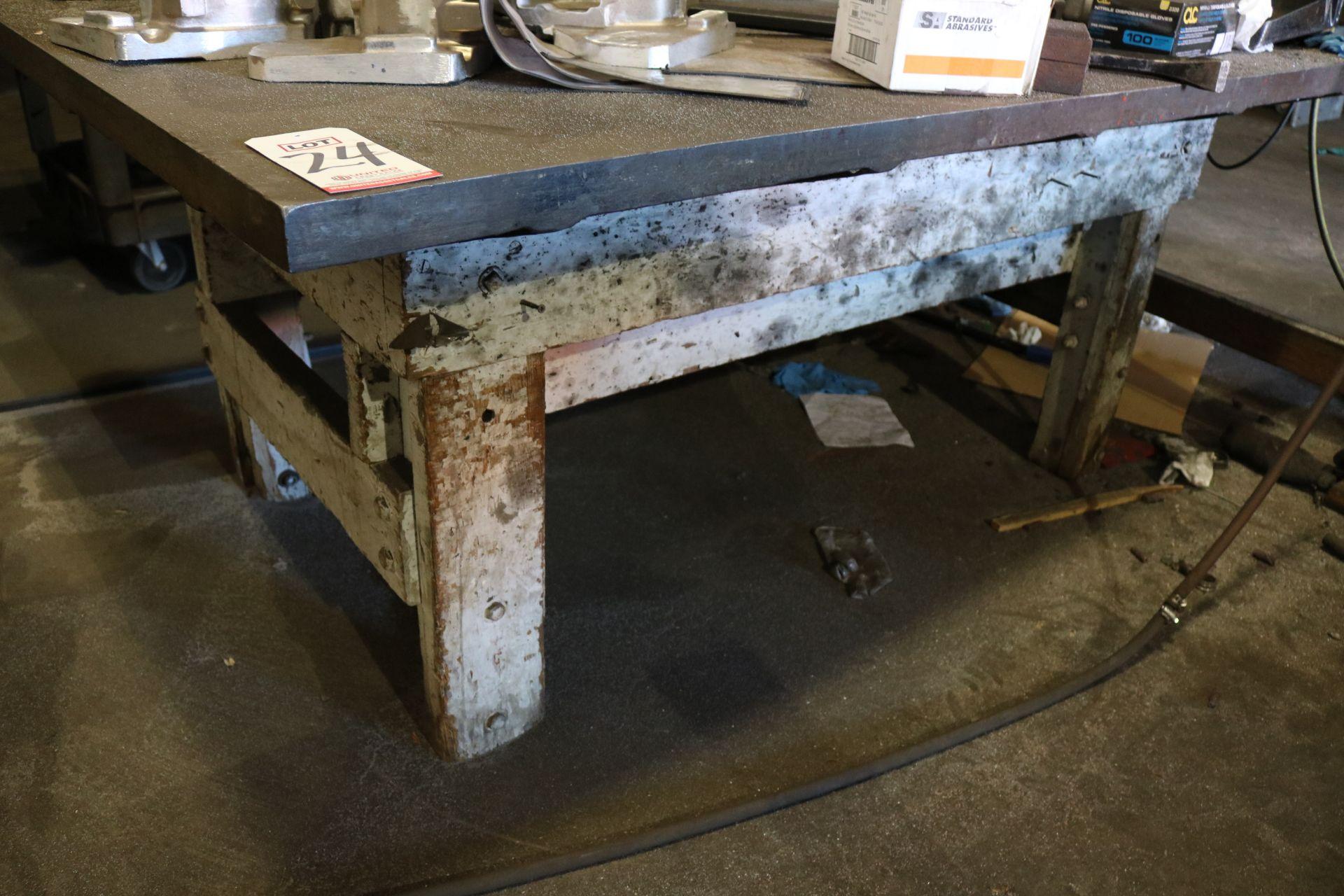 Lot 24 - STEEL TABLE