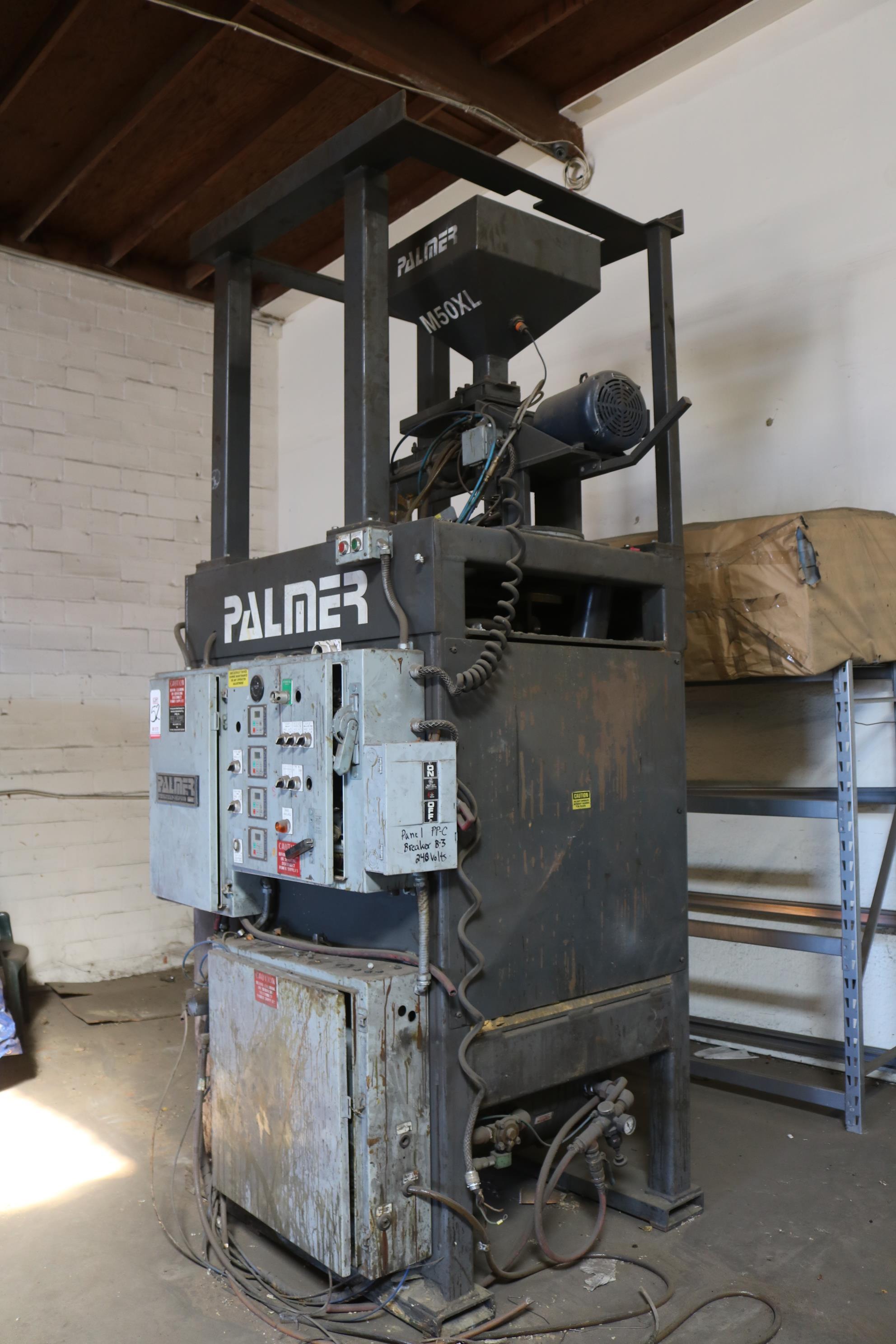 Lot 52 - 2005 PALMER MODEL CM25 CORE MAKER SYSTEM, PALMER M50XLD CONTINUOUS MIXER, ENCLOSURE, PUMPS AND