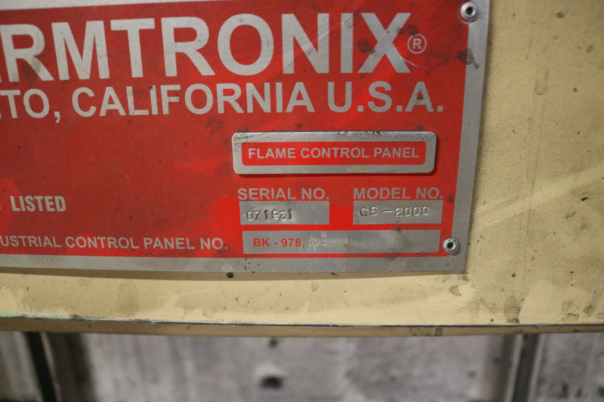 Lot 49 - 2007 THERMTRONIX MODEL GS2000 2000 LB GAS FIRED MELTING FURNACE, GAS SYSTEM AND CONTROLS, S/N