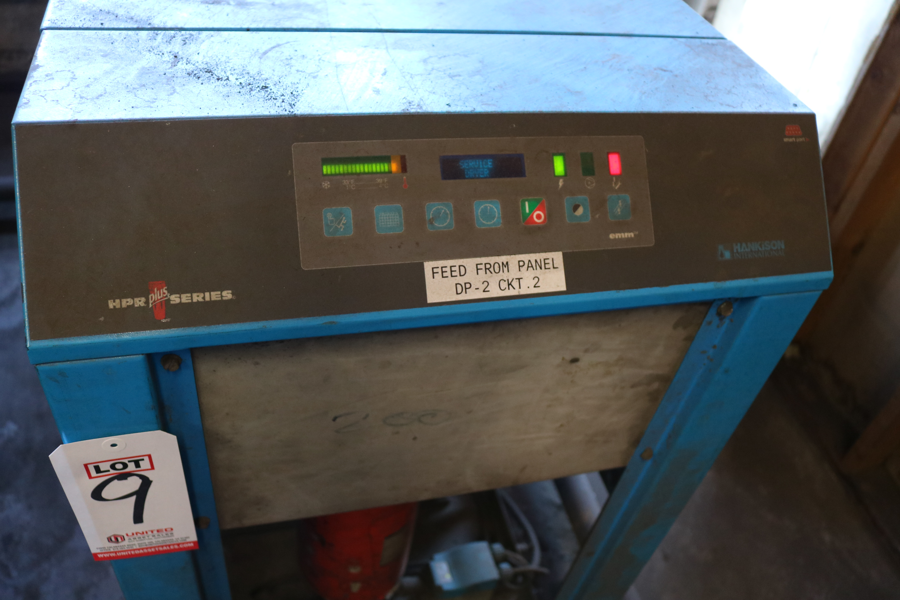 Lot 9 - HANKISON MODEL HPRP200-468 200 CFM AIR DRYER, S/N H200A46001100187