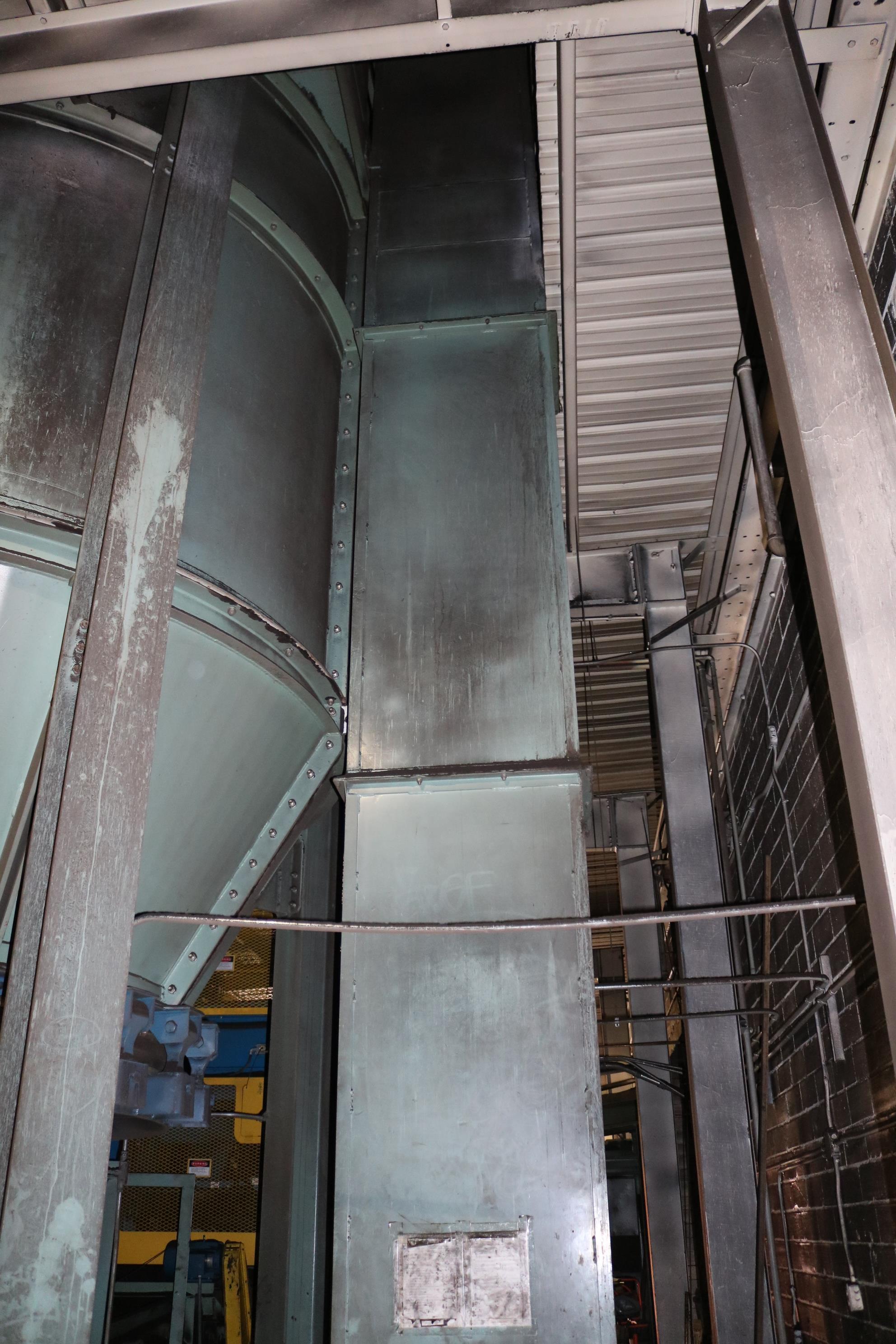 Lot 28 - STATES RETURN SAND BUCKET ELEVATOR, MODEL D10620, APPROX. 40' TALL, 7.5 HP DRIVE