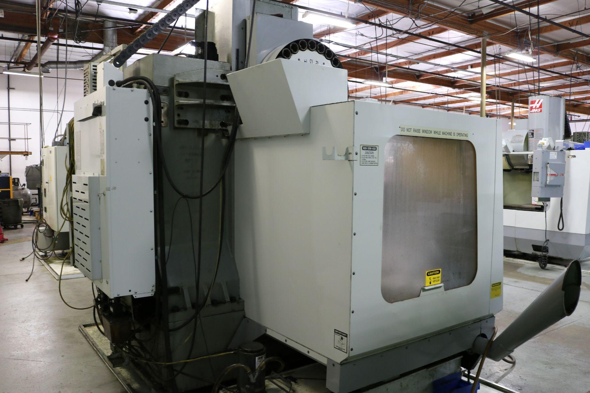 "Lot 9 - 2002 HAAS VF-3B APC CNC VERTICAL MACHINING CENTER, HAAS AUTO PALLET CHANGER, TRAVELS: 40"" X 20"" X"