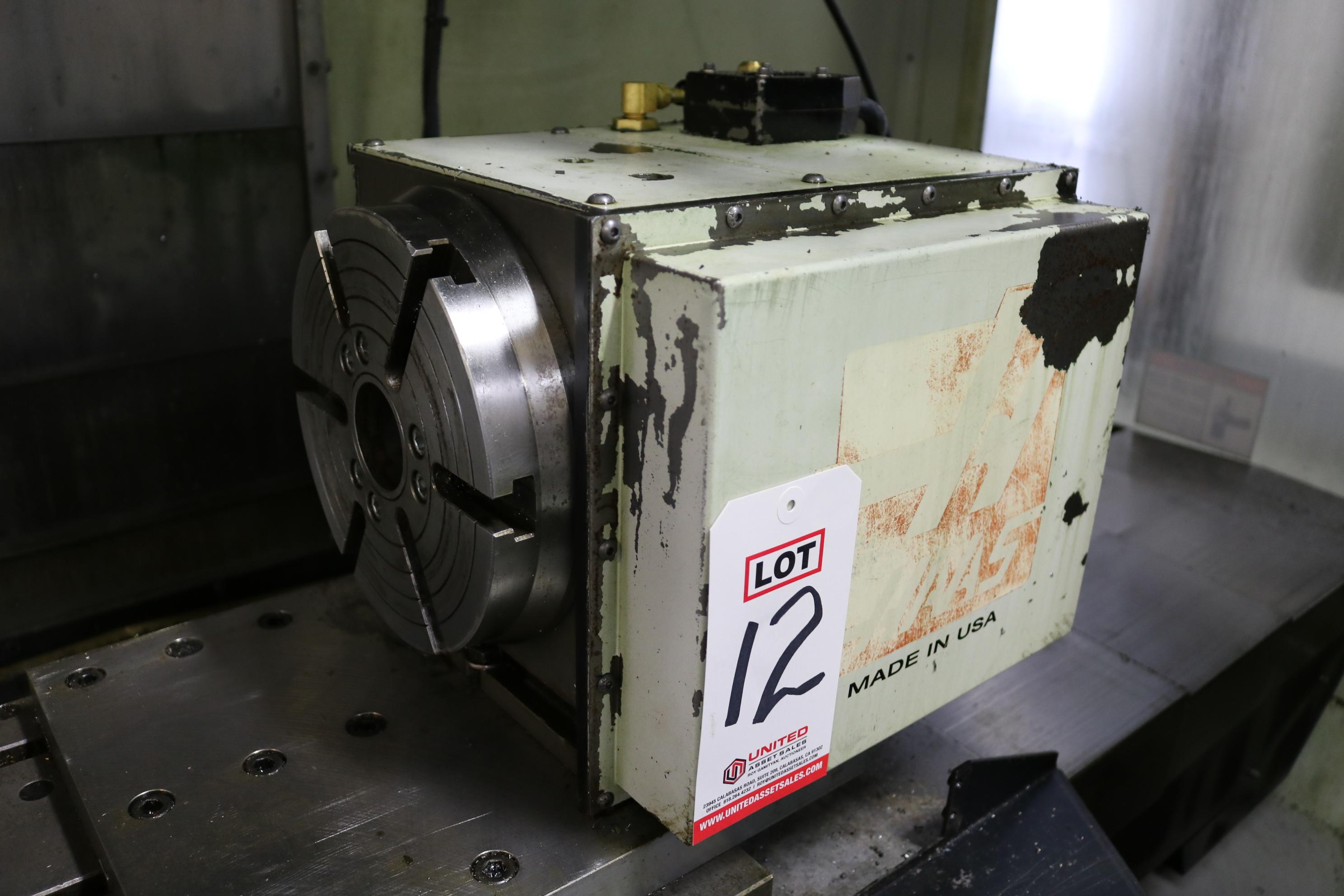"""Lot 12 - HAAS HRT-210 ROTARY TABLE, 8"""" CHUCK"""