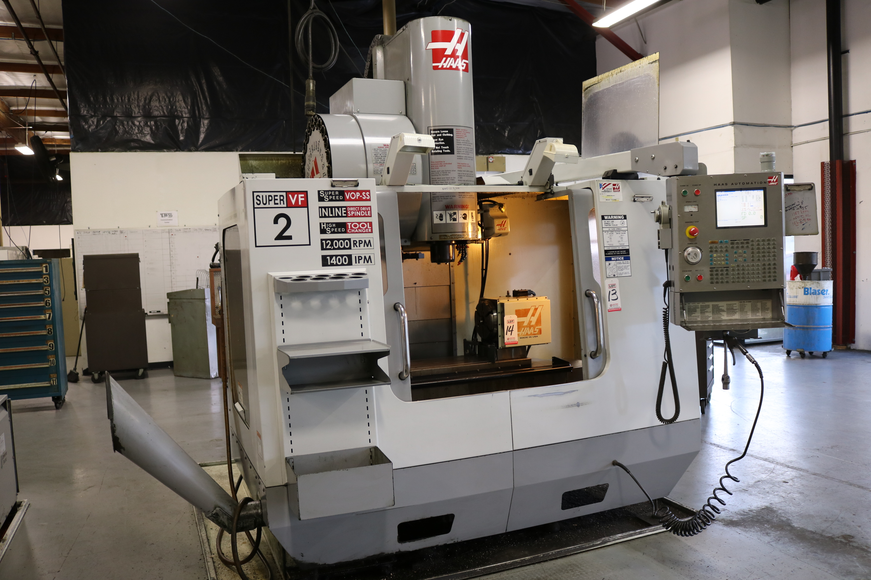 """Lot 13 - 2006 HAAS VF-2SS CNC VERTICAL MACHINING CENTER, TRAVELS: 30"""" X 16"""" X 20"""", NEW SPINDLE 834 HOURS"""