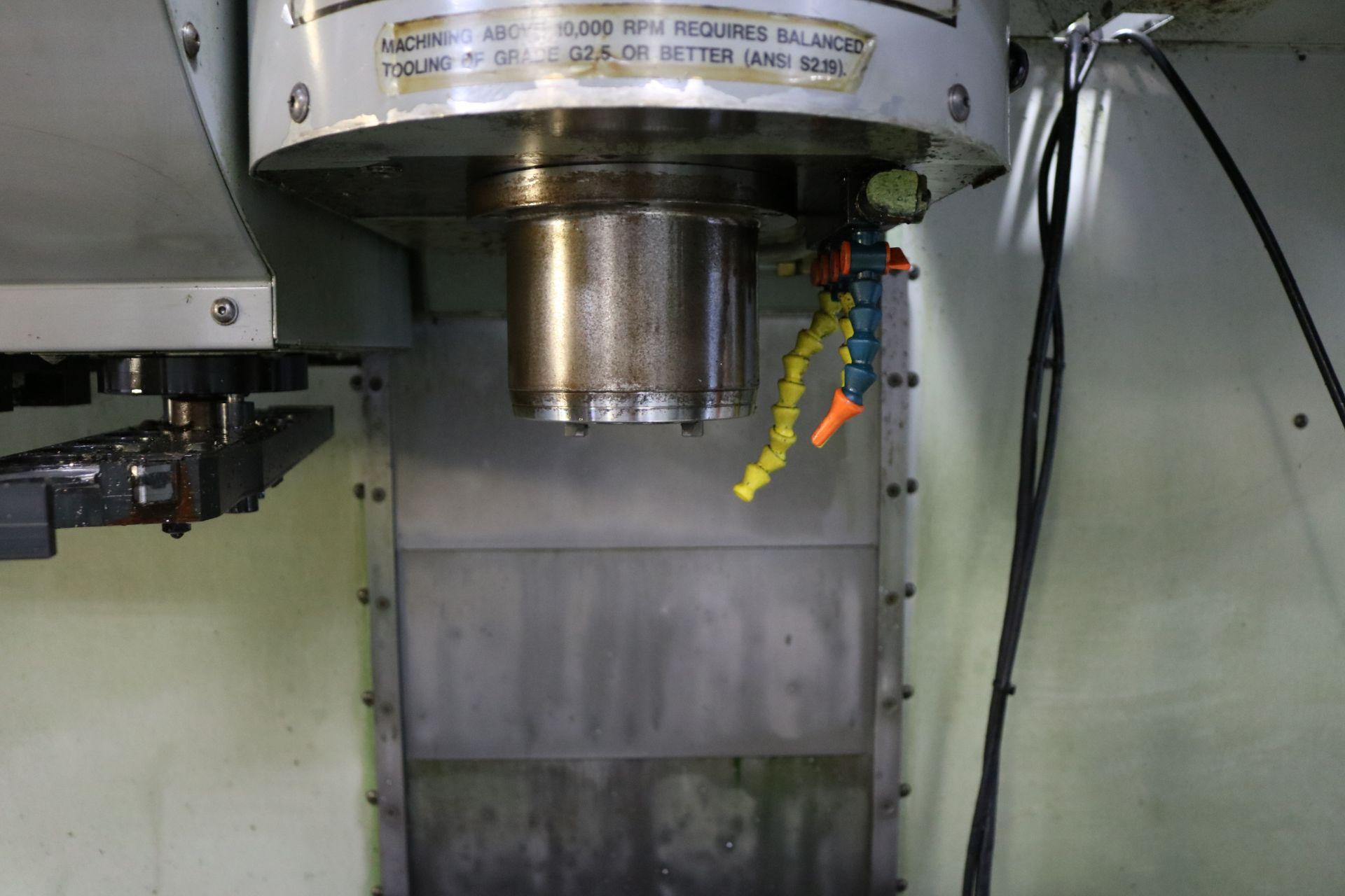 "Lot 11 - 2005 HAAS VF-2SS CNC VERTICAL MACHINING CENTER, TRAVELS: 30"" X 16"" X 20"", 36"" X 14"" TABLE, 12,000"