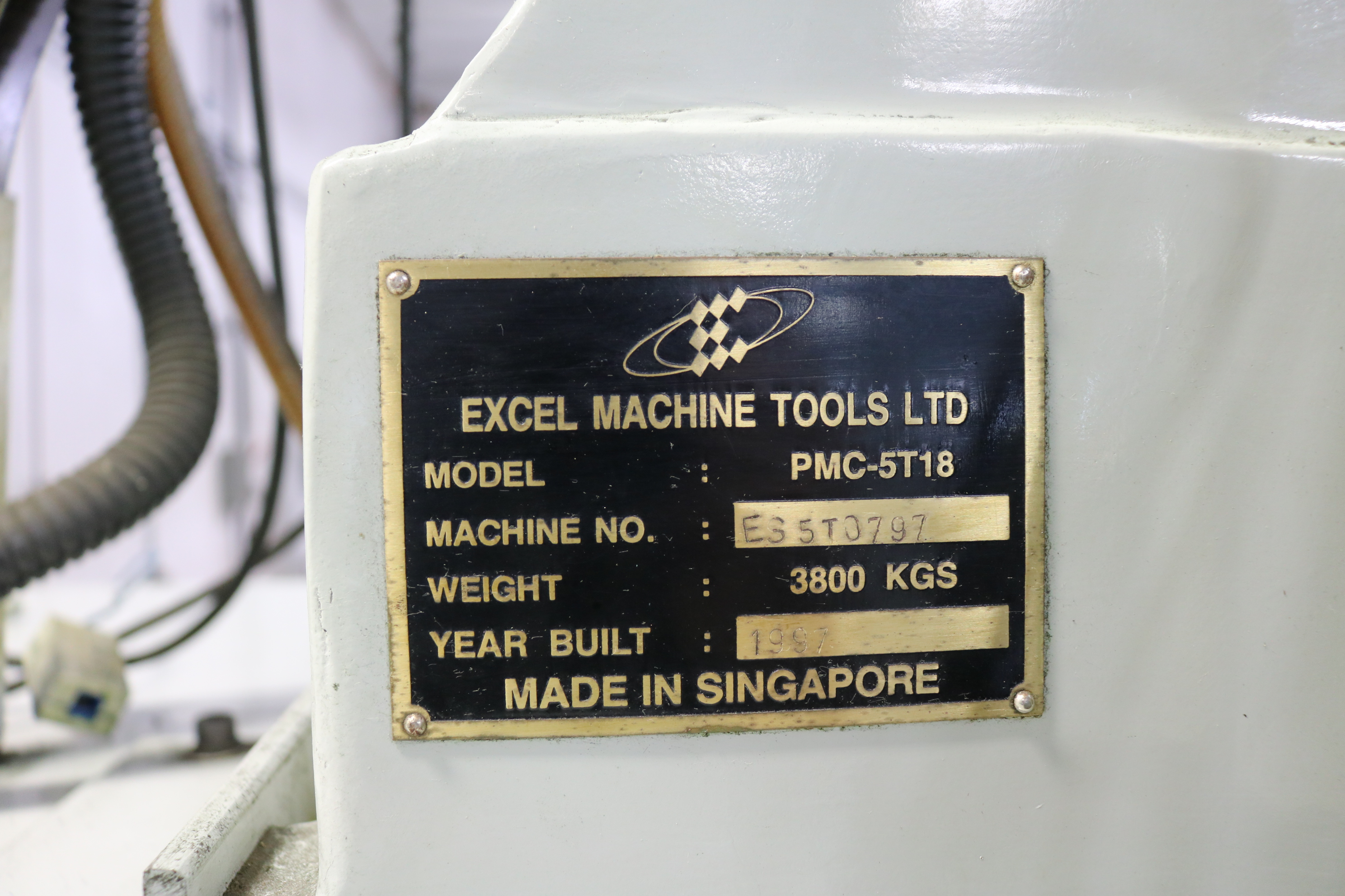 "Lot 7 - 1997 EXCEL PMC-5T18 CNC VERTICAL MACHINING CENTER, TRAVELS: 20"" X 16"" X 18"", 27"" X 17"" TABLE, 8000"