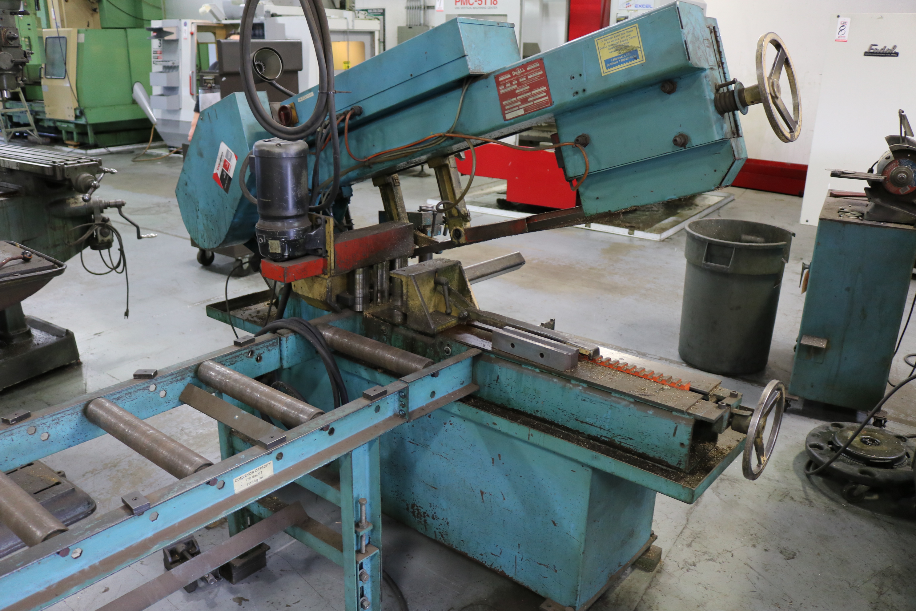 "Lot 4 - DOALL HORIZONTAL BAND SAW, MODEL C916A, 9"" X 16"" CAPACITY, X/N 502-93221, W/ OUT FEED CONVEYOR"