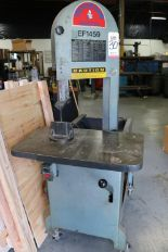 "Lot 30 - ROLLIN EF-1459 VERTICAL BAND SAW, 18.5"" X 30"" TABLE, PORTABLE"