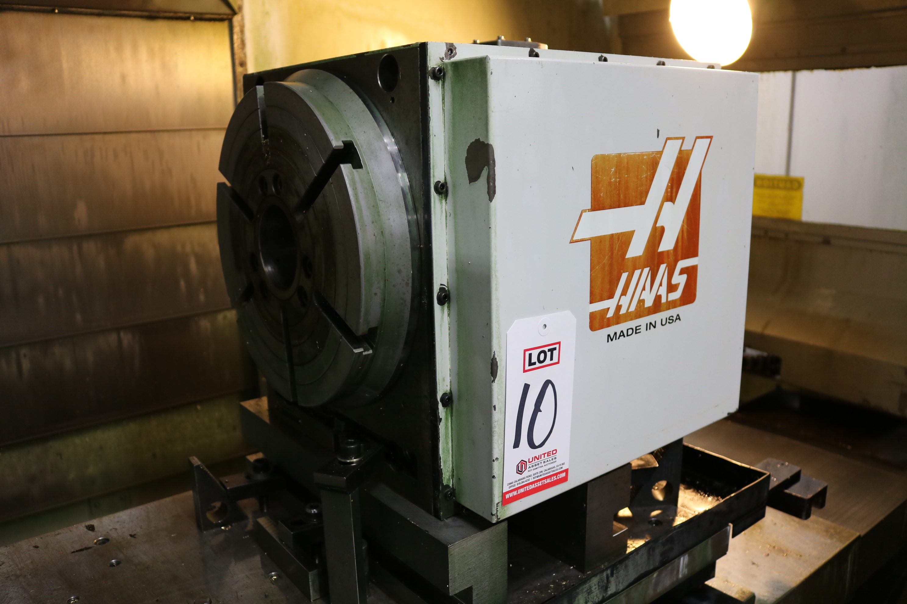 "Lot 10 - HAAS HRT-310 ROTARY TABLE, 12"" CHUCK, S/N 312935"