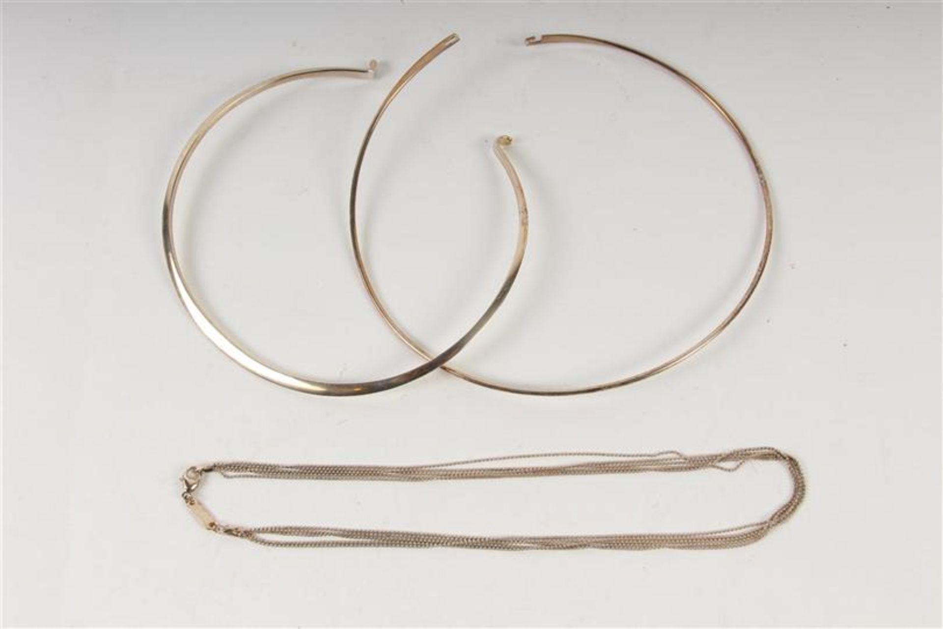 Vier zilveren colliers. Gewicht: 56 g. - Bild 3 aus 3