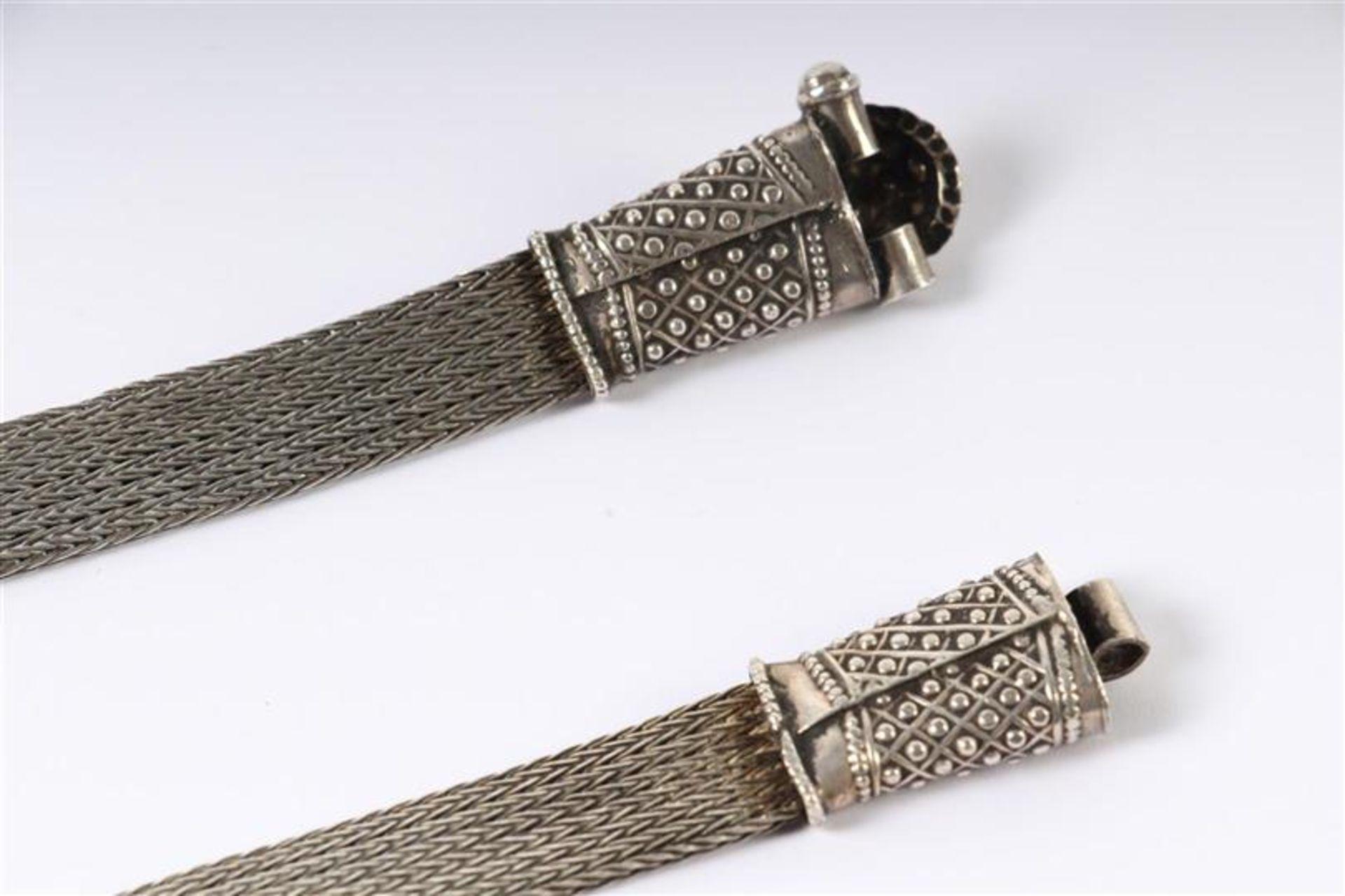 Los 20 - Zilveren Judaica ceintuur. L: 75 cm. Gewicht: 91 g.