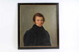 Schilderij olieverf op doek, onbekende schilder, 'Portret van een jonge man', 18e eeuw,