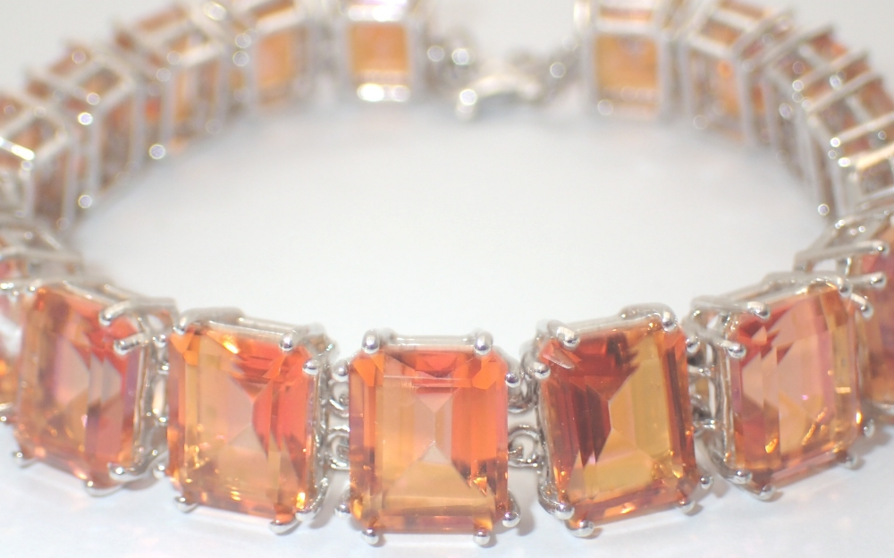 hairmasters haircut prices 925 silver large emerald cut orange bracelet 3254