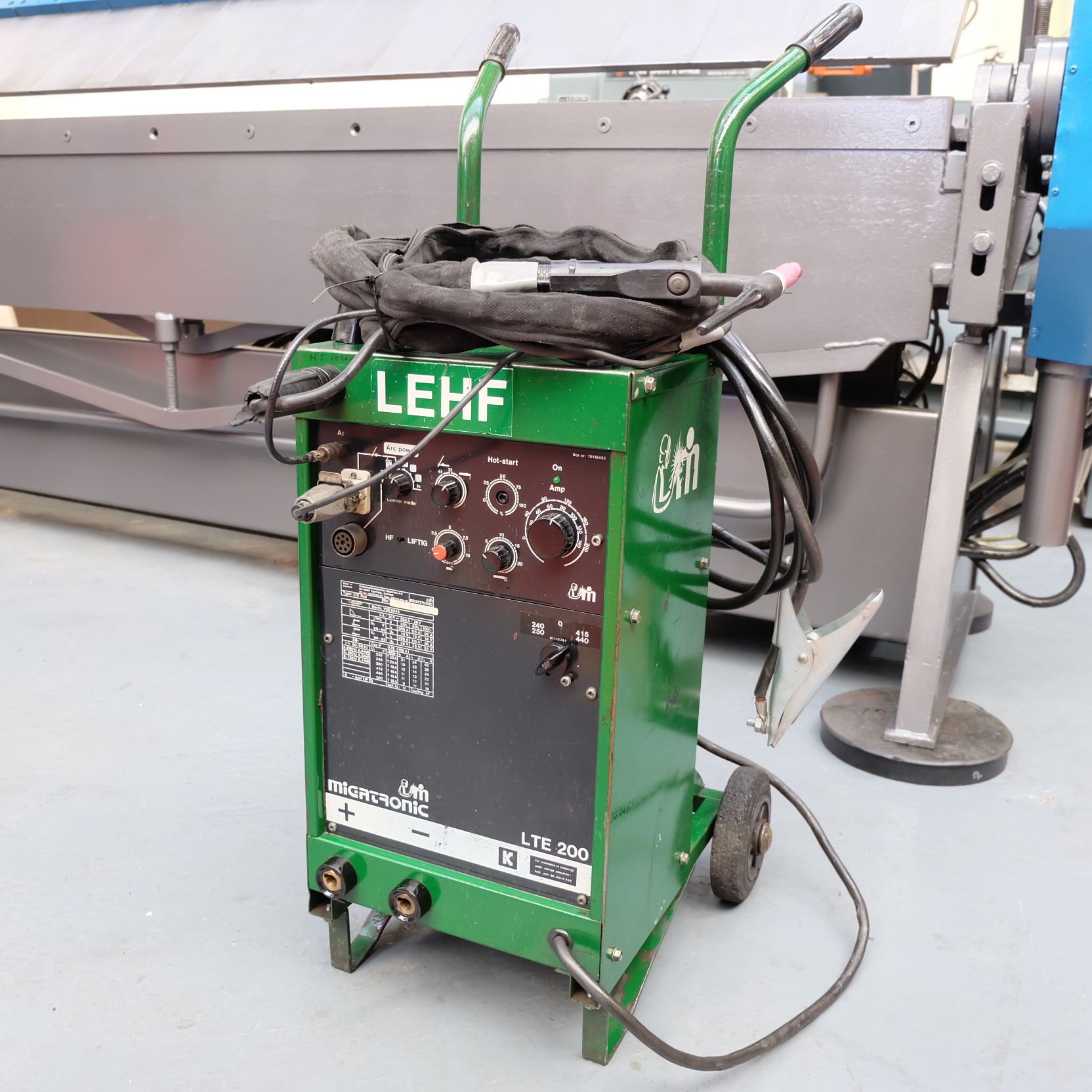 Lot 46 - A MIGTRONIC LTE 200 200 Amp Tig Welding Set.
