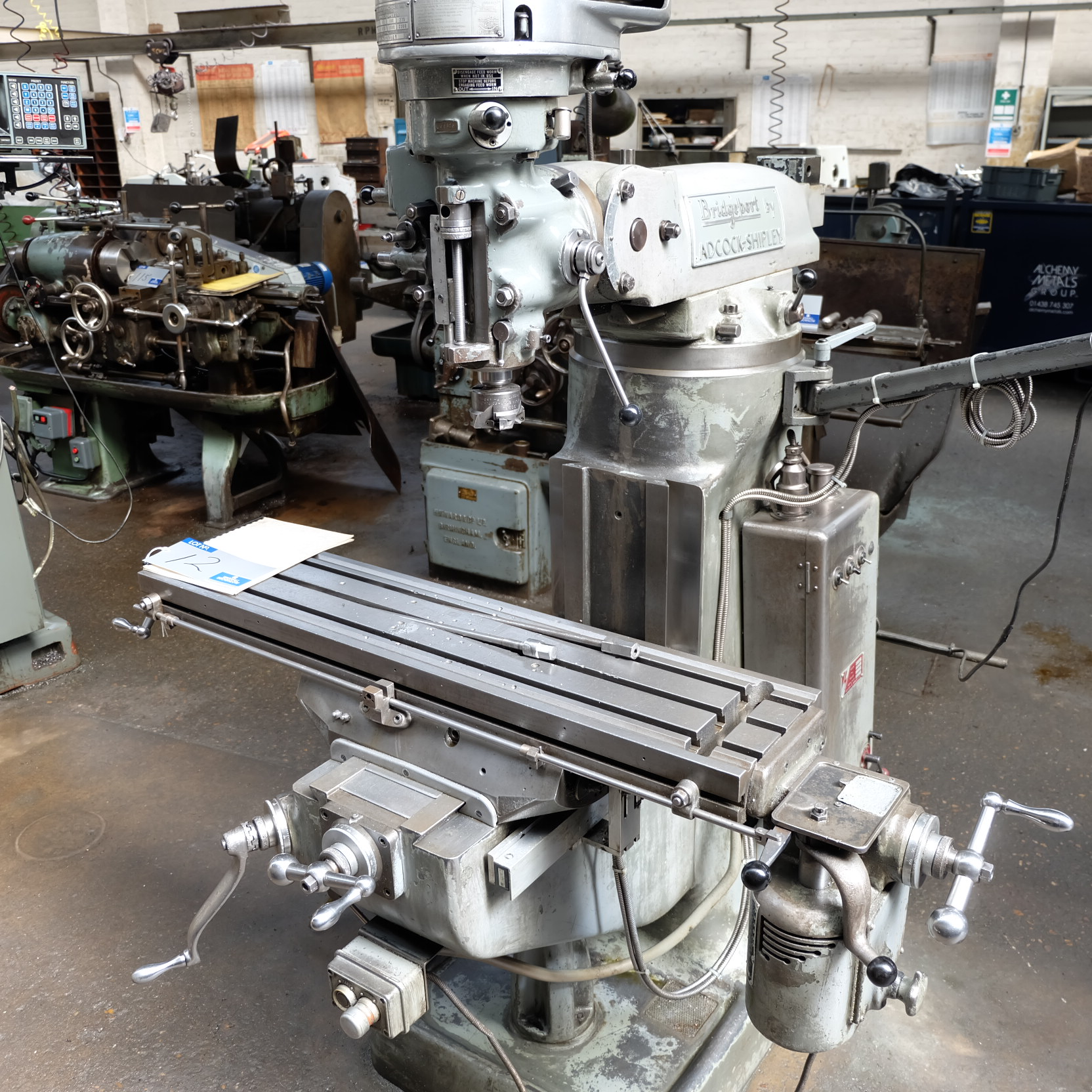 Lot 12 - A Bridgeport BRJ Vertical Turret Head Milling Machine, 42in x 9in table with Mitutoyo 2 axis Digital