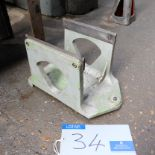 Lot 34 - A Grinding Wheel Balancing Unit: 8in centre height, 6.5in between uprights.