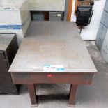 Lot 27 - A Craven Cast Iron Surface Table, 36in x 60in x 32in h.
